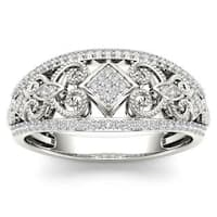 De Couer 1/5ct TDW Diamond Fashion Engagement Ring - White H-I