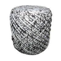 WONDER Round Wool Pouf Ottoman