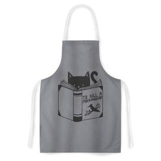 Kess InHouse Tobe Fonseca To Kill A Mockingbird Grey Cat Artistic Apron