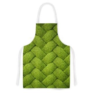 Kess InHouse Susan Sanders Ivy Basket Green Weave Artistic Apron