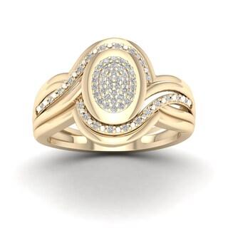 De Couer 1/5ct TDW Diamond Cluster Ring (H-I, I2)