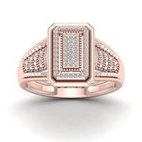 De Couer 1/5ct TDW Diamond Cluster Ring - Pink