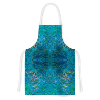 Kess InHouse Nikposium Clearwater Blue Teal Artistic Apron