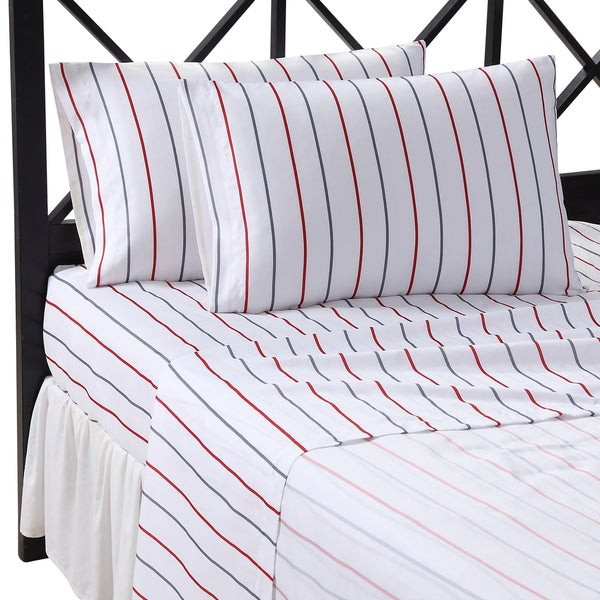 Arden Stripe Microfiber Sheet Set