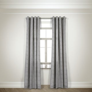 L and R Home Harlequin Taupe 108-inch Grommet-top Curtain Panel Pair