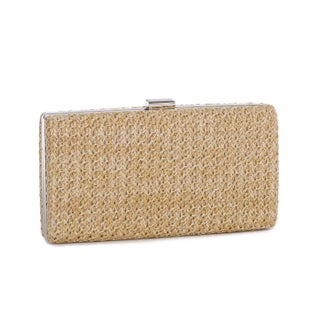 J. Furmani Carla Hardcase Clutch (Option: Beige)