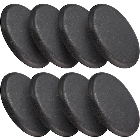 Sivan Health and Fitness 8-piece Large Black Basalt Hot Stone Set