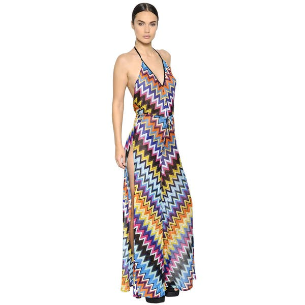 f69a73f471 Missoni Women's Lurex Multicolor Rayon Wide-leg Zig-zag Jumpsuit