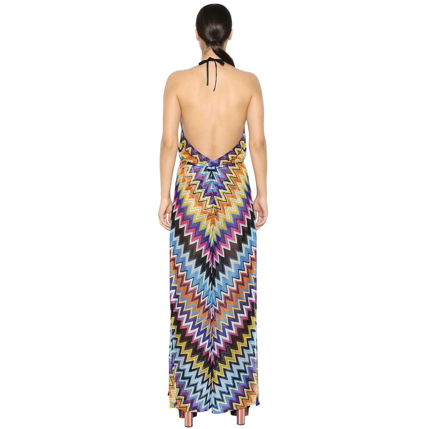 855c9fbdf0 Shop Missoni Women's Lurex Multicolor Rayon Wide-leg Zig-zag Jumpsuit -  Free Shipping Today - Overstock - 14483589