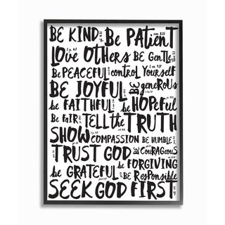 Link to EtchLife Virtures Black and White Typography Framed Giclee Similar Items in Art Prints