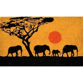 Four Elephants Doormat