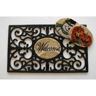 Black Rubber Interchangeable Doormat