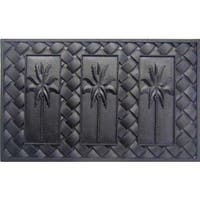 Black Rubber Palm Trees Doormat