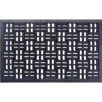 Black Rubber Basket Weave Doormat