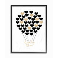 'Dream Big Little One - Hot Air Balloon Black and Gold' Framed Giclee Texturized Art