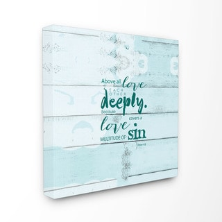 EtchLife 'Above All Love Each Other' Stretched Canvas Wall Art