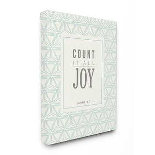 EtchLife 'Count It All Joy' Stretched Canvas Wall Art