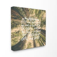 EtchLife 'Word Became Flesh Redwoods' Canvas Stretched Wall Art