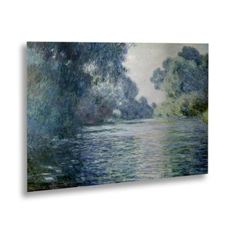 Claude Monet 'Branch of the Seine' Floating Brushed Aluminum Art