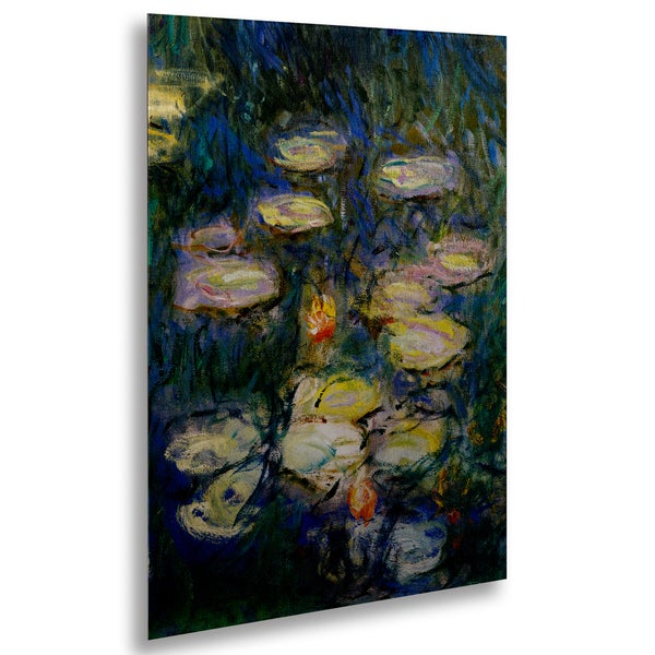 Claude Monet 'Water Lilies V 1840-1926' Floating Brushed Aluminum Art