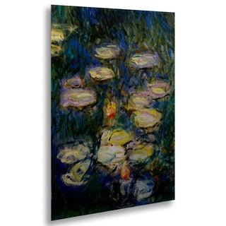 Claude Monet 'Water Lilies V 1840-1926' Floating Brushed Aluminum Art