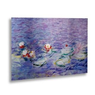 Claude Monet 'Water Lilies II 1840-1926' Floating Brushed Aluminum Art