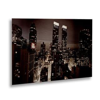 Ariane Moshayedi 'NYC After Dark' Floating Brushed Aluminum Art|https://ak1.ostkcdn.com/images/products/14483983/P21043128.jpg?impolicy=medium
