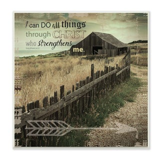 Stupell EtchLife 'I Can Do All Things' Pasture Photograph Wall Plaque Art