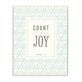 EtchLife 'Count It All Joy' Wall Plaque Art