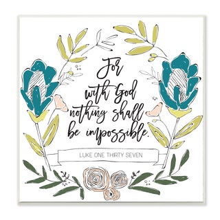 EtchLife 'Nothing Shall Be Impossible' Wall Plaque Art