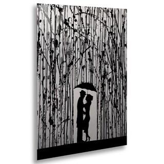 Marc Allante 'Film Noir' Floating Brushed Aluminum Art