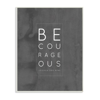 Stupell EtchLife 'Be, Courageous' Wall Plaque Art