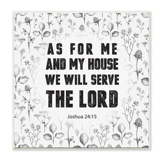 EtchLife 'As For Me And My House Joshua 24:15' Wall Plaque Art