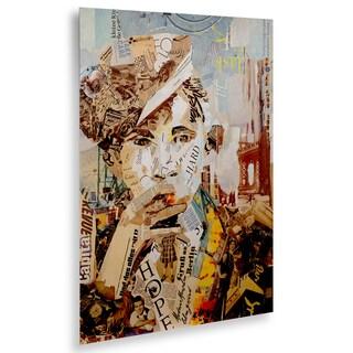 Ines Kouidis 'Babyface III' Floating Brushed Aluminum Art