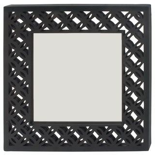 Urban Designs Newport 31-Inch Square Black Wall Mirror