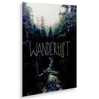 Leah Flores 'Wanderlust Rainier Creek' Floating Brushed Aluminum Art
