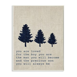 'You are Loved Son Trees' Wall Plaque Art - 10 x 15