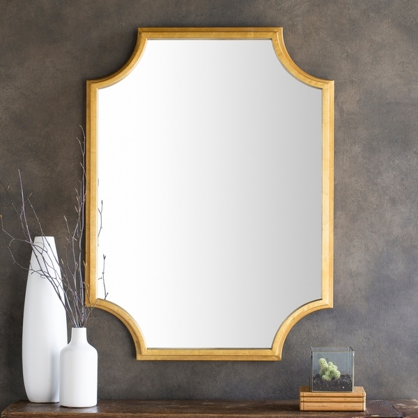 shop valnwy gilded finish wall mirror x 40 gold 29 8 x 40 free shipping today. Black Bedroom Furniture Sets. Home Design Ideas