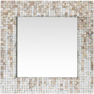 "Meina Mother of Pearl Inlaid Wall Mirror (23.6 x 23.6) - Grey - 23.6"" x 23.6"""