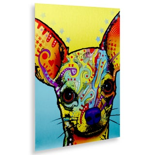 Dean Russo 'Chihuahua' Floating Brushed Aluminum Art