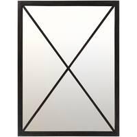 Metal Klammath Wall Mirror (30 x 40) - Black