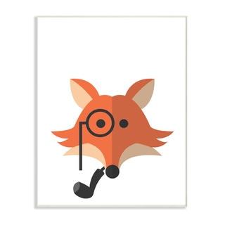 'Hipster Fox' Wall Plaque Art