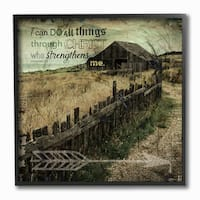 EtchLife 'I Can Do All Things Pasture Photograph' Framed Giclee Texturized Art