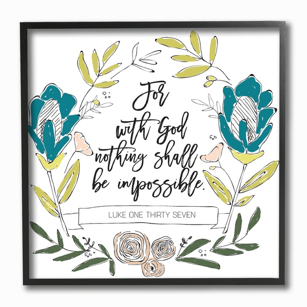 Stupell EtchLife 'Nothing Shall Be Impossible' Framed Giclee Texturized Art