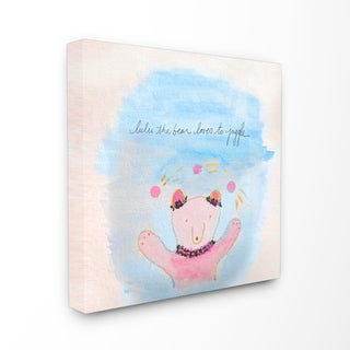 'Lulu The Bear' Stretched Canvas Wall Art