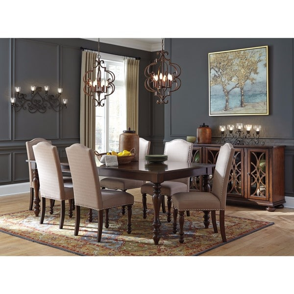 Dining Room Place Settings: Shop Signature Design By Ashley Baxenburg Brown Dining Set