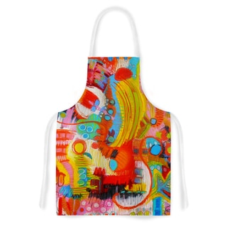 Kess InHouse Jeff Ferst 'Flower Power' Abstract Multicolor Artistic Apron