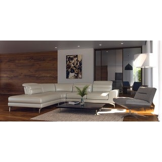 Oskar Full Top Grain leather ADJUSTABLE Contemporary sectional