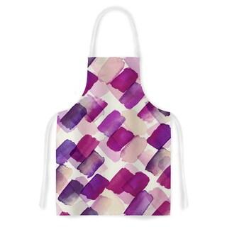 Ebi Emporium 'Strokes Of Genius 6, Wine' Purple lavender Artistic Apron