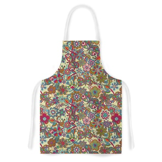 Kess InHouse Julia Grifol 'My Butterflies & Flowers in Yellow' Artistic Apron